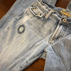 Miss Me Jeans - Miss Me Floral Embroidered Distressed Jeans W28